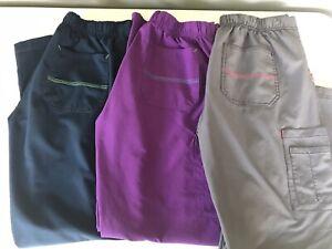 AM31 Carhartt Lot of 3 Cross-Flex Utility Scrub Pants Womens Small
