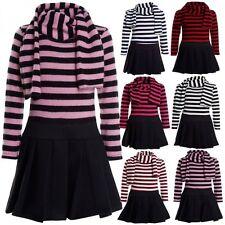 Markenlose knielange Langarm Mädchenkleider für die Freizeit