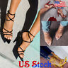 Womens Sexy High-heeled Pointed Crossed Straps Stilettos Sandals Shoes Party US
