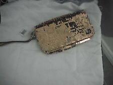 NWT COACH 44460 SEQUIN OCCASION LG CLUTCH WRISTLET *ROSE GOLD* SPECIAL EDITION