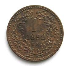 SELTEN! 1 Filler 1892 KB, Franz Joseph I. (1848-1916)