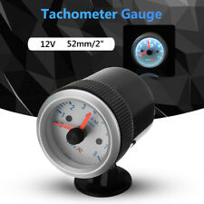 "2"" 52mm Car Motor Tacho Meter 0-8000 RPM Indicator Pointer Tachometer Gauge AU"