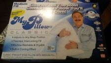 2x NEW MyPillow Classic Queen Bed Pillows by My Pillow As Seen On TV Medium fill