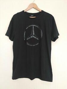 Mercedes Black Logo Short Sleeve Men's T-Shirt Size 2XL