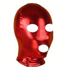 Cuir pvc look bondage donjon Fetish esclave yeux rouges / Bouche Ouverte Tête capuche