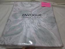 "New Envogue Floral Shower Curtain 72""x72"" CARETTE Lavender Light Green Grey NIP"