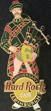 Hard Rock Cafe EDINBURGH 2004 6th Anniversary PIN Bagpiper - HRC Catalog #21445