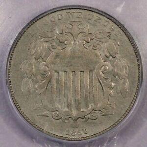 1866-P 1866 Shield Nickel ICG AU53 Rays