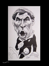 "GARY KNIGHT NEW ZEALAND ALL BLACK CARICATURE PRINT 16x12"" (41x30cm) UNFRAMED"
