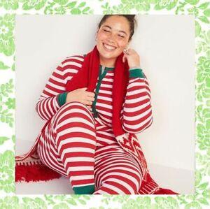 Cotton Christmas Elf Union Suit Jumpsuit Loungewear Sleep Wear Pajamas 1X 2X 3X