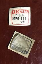 Vintage Rare Elgin Elvis Direct Read Glass Watch Crystal Jump Hour