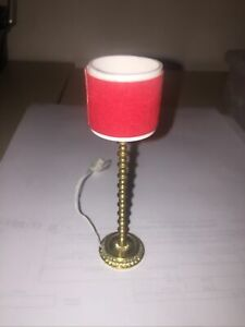 DBY Dollhouse Floor Lamp  Red Shade
