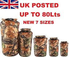 FOREST CAMO DRY BAG CANOE SACK 100% WATERPROOF KIT STORAGE RUCKSACK LINER to 80L
