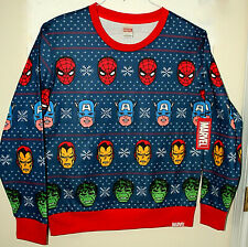 Marvel Comics Avengers Festive Ugly Holiday Sweater Sweat Shirt New LG Tags Hulk