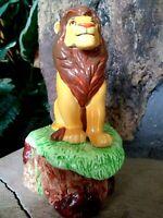 SIMBA SCHMID MUSICAL CERAMIC FIGURINE, DISNEY LION KING, NEW MINT, w/Sticker