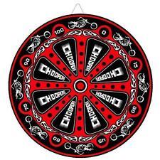 Biker Choppers Red Throwing Knife Target Dart Board