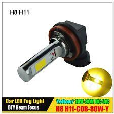 1Pcs 80W H8 H11 COB LED Fog Daytime Light Lamp Blub HeadLight DRL 3000K Yellow