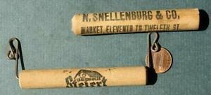 1910-20s Philadelphia Pennsylvania Stelert Baden Wood beer pail handle set-RARE!