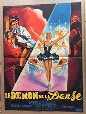 """AFFICHE CINEMA : """"Le Démon de la Danse"""" 1955 avec Terence Morgan"""