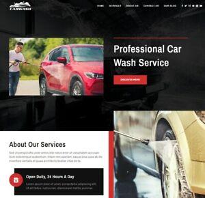 Car Wash Valeting Service Website Shop Paypal Stripe Wordpress Woocommerce