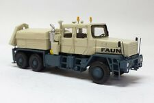 HO 1/87 Faun HZ 40.45/45W 6x6 with crane - Ready Made Resin Model