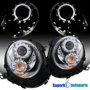 For 2007-2013 / 2012-2015 Mini Cooper S Halo Rim Headlights Signal Lights Lamps