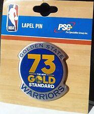 """NBA Golden State Warriors  """"73 - The New Gold Standard"""" Lapel Pin"""