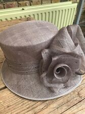 Beautiful Lilac/Latte Designer Hat From John Lewis for Wedding or Races.