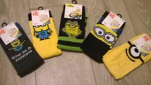 Mens or older boys Despicable Me Minion Socks Size 6-11 New Choose design
