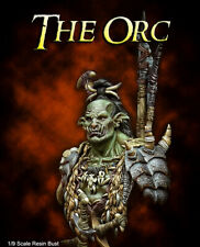 MJ Miniatures - The Orc 1/9 scale 200mm resin bust, assembled and primed