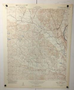 Vintage Fort Mitchell Quadrangle Alabama Georgia Geological Survey Map 1949