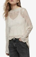BNWT All Saints Estero cream Jumper knit top Large RRP £128