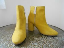 BODEN  New  Etta Ankle Boots - Yellow Suede - Size 38/5 - This Year - Sold Out