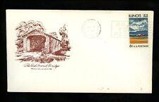 US Postal History Bridge Covered The Red 1968 Princeton IL