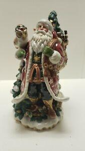 Fitz and Floyd Cookie Jar Santas List Rocking Horse Xmas Centerpiece Vintage Please Read