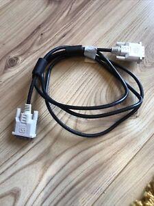 DVI-D to DVI-D single link cable, 1.7m length, black cable, white connectors