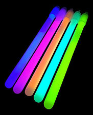 "50x 6"" Inch Regular (10mm) Glow Sticks + Lanyards - Glowtopia For All Occasions"