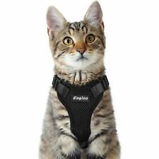 Eagloo Black CAT HARNESS Small Cat and Dog Harness Soft Mesh Reflective