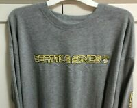 Vintage Seattle SuperSonics Sonics Classic NBA Long Sleeve T Shirt M L XL