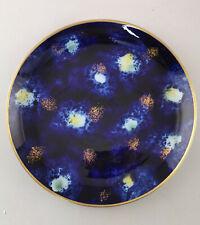 99840739 Porcelana Talla Plato para Tartas Wallendorf Cobalto Decoración Oro