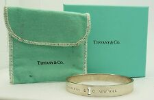 Tiffany & Co. New York Keyhole Bangle W/ Diamond Accents - 100% Authentic