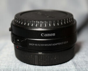 Canon EF- RF Drop-In Filter Lens Mount Adapter with Circular Polarizing Filter