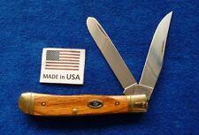 "Schrade USA SDU296 Ducks Unlimited ""Oak Handles"" Trapper Knife"