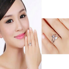 Fashion 925 Sliver Plated Opening Adjustable Fox Ring Valentine's Day gift Pop