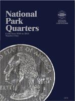 Whitman National Park Quarter Coin Folder Book #1 2010-2015 #2876