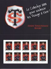 Montimbramoi@ N°4 - 10 TIMBRES AUTOADHESIFS (COLLECTOR) STADE TOULOUSAIN RUGBY