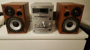 Sony HCD-CPZ1 Micro HiFi System Stereo Radio CD mp3 Tape  + Remote DAB radio