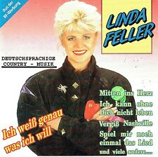 (CD) Linda Feller - Ich Weiß Genau Was Ich Will, Mitten Ins Herz  (Album 1992)