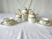 Service a Café / Tete a Tete en porcelaine de LIMOGES