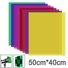 Neewer 8 Pieces Gel Color Filter for Photo Studio Strobe Flash Led Video Light